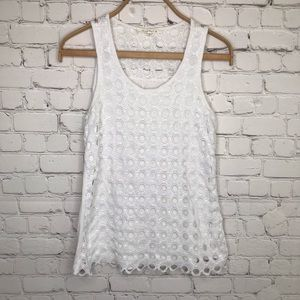 Anthropologie Solitaire White Tank Top